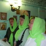Престольный праздник: клирос на Богослужении