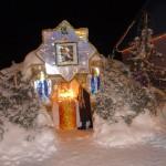 Свет Вифлеемской звезды - рождественский вертеп с любовью созданный на территории храма