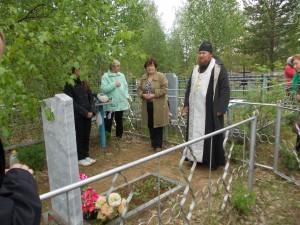 панихида на кладбище