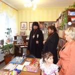 в читальном зале детского дома